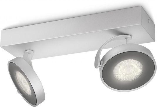 Philips Lampen Led : Spotlampe clockwork grau metall 2 lampen led philips